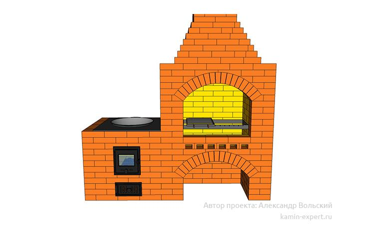 Проект комплекса барбекю № 850 вид 1