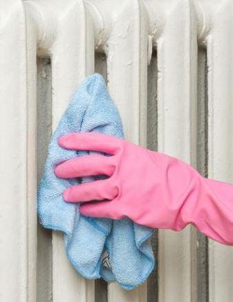 Очистить от пыли и жира