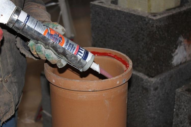 Герметизация печных труб при монтаже
