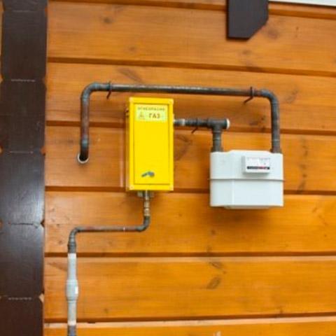 Подводка газа к бане