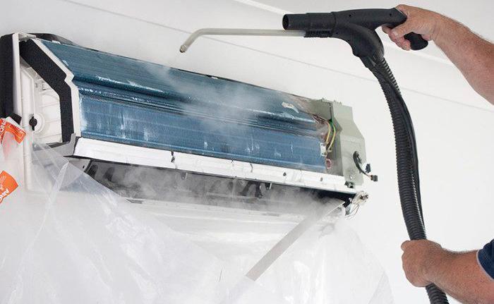 Чистка радиатора кондиционера