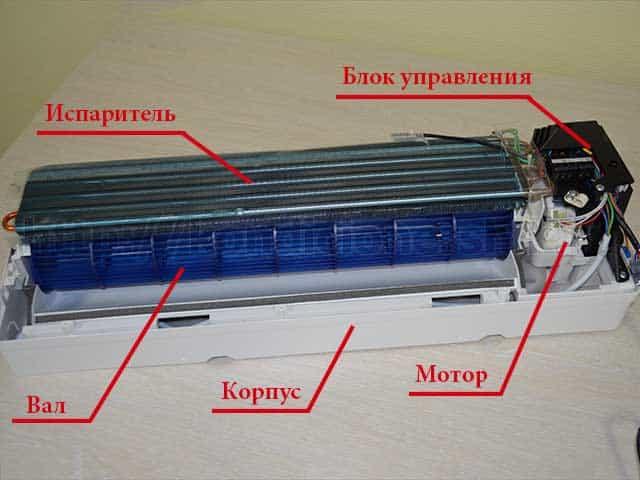 Схема внутреннего блока кондиционера