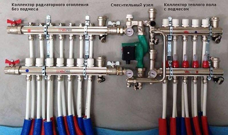Коллектор и циркуляционный насос являются важными элементами в системе